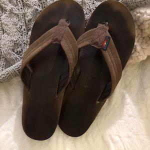 Rainbow sandals. Classic espresso size medium